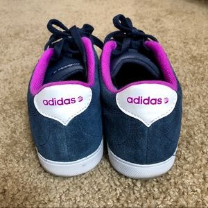 quality design 7f577 40e11 adidas Shoes - Adidas NEO Courtset Blue Purple Suede Sneakers. 9